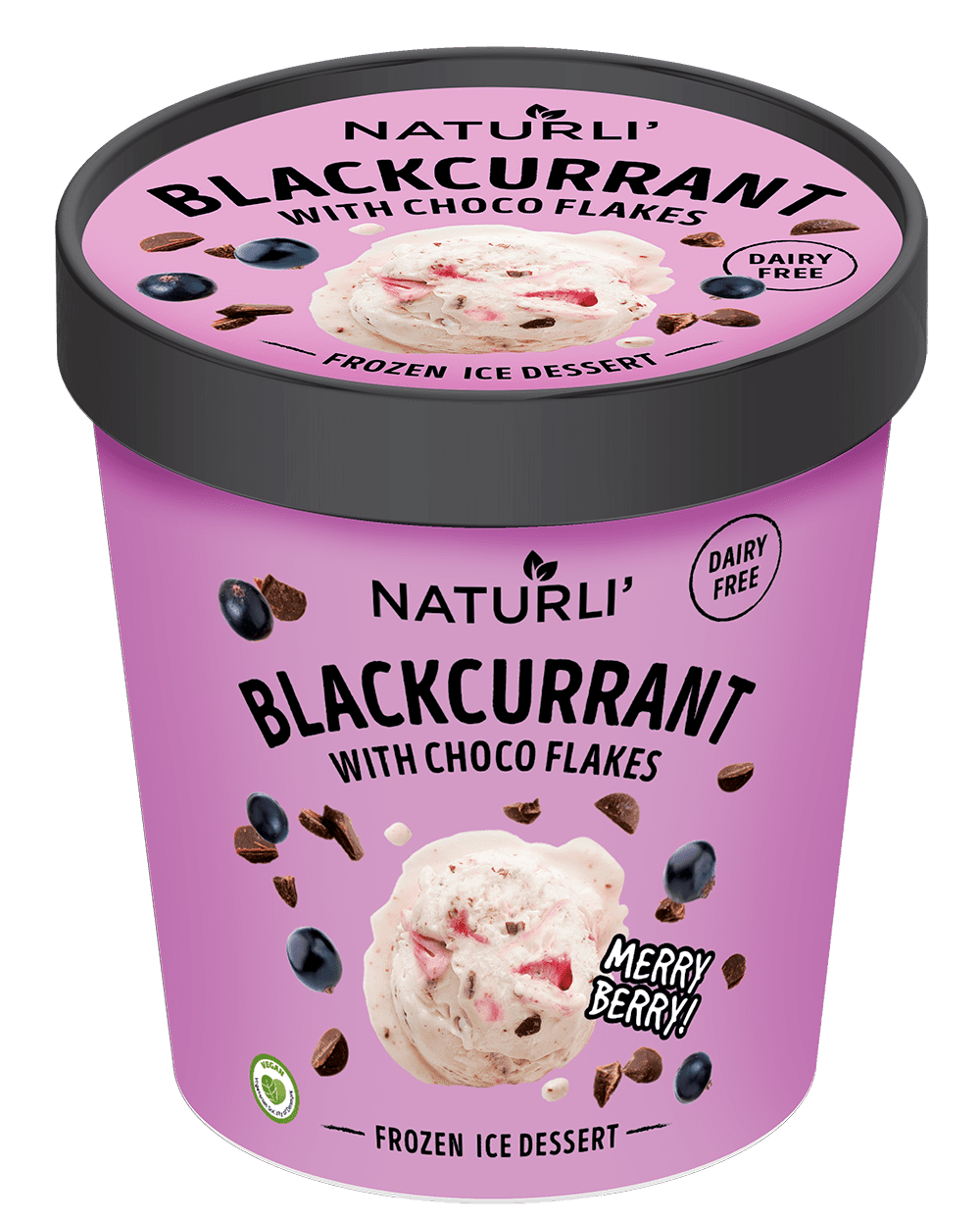 Blackcurrant with Choco Flakes